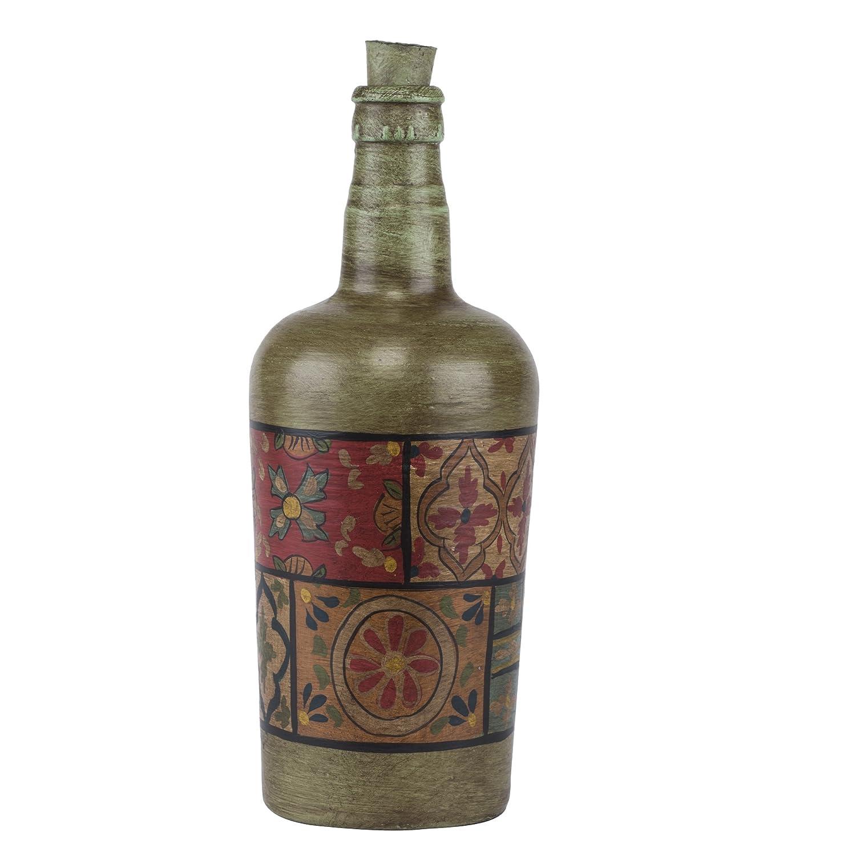 FABULIV Byron botellas de cristal (Juego de 2), pintado a mano: Amazon.es: Hogar