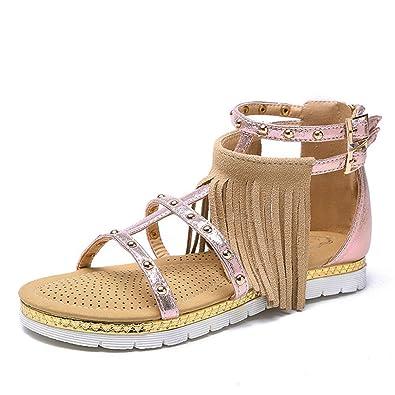 MeiMei Sandales Femme Fashion avec Une Base Plate Et Polyvalent Chaussures Romain QcNIZ