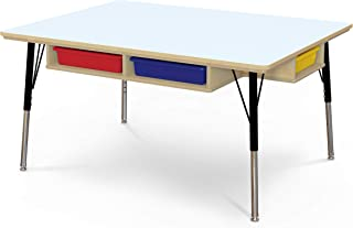 """product image for Jonti-Craft Table with Storage and Colored Paper-Trays, 15""""-24"""" Height"""