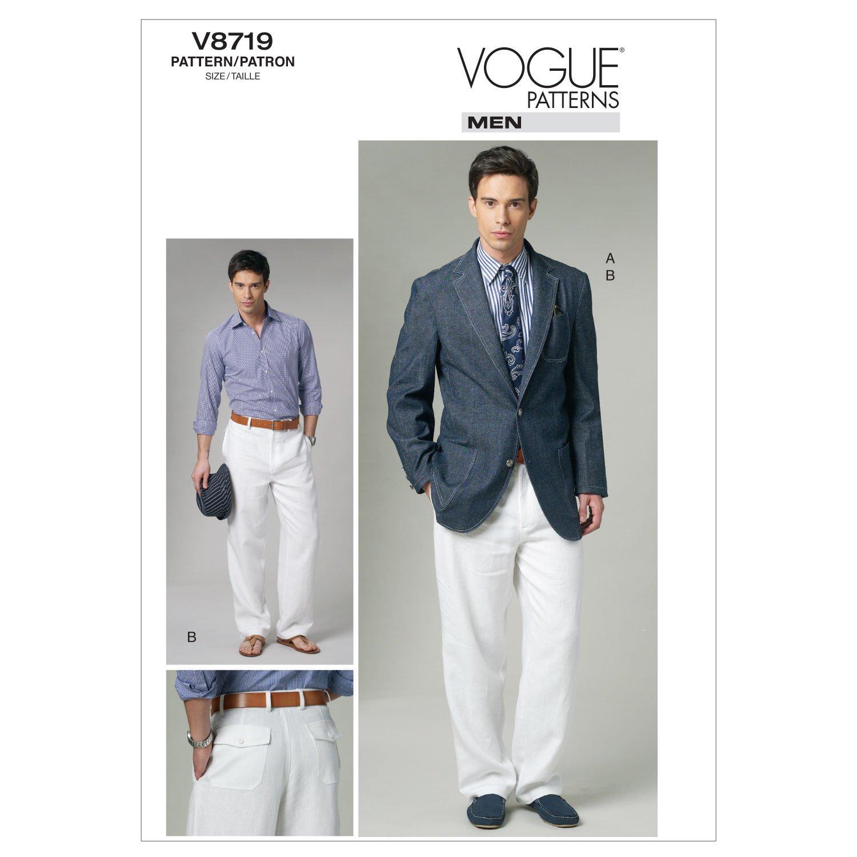 Amazon.com: Vogue Patterns V8719 Men\'S Jacket and Pants, Size MXX ...
