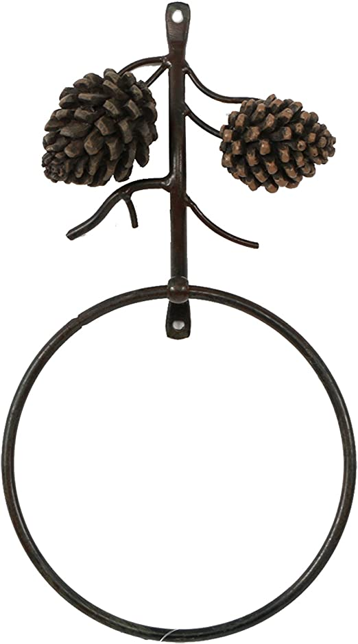 Woods Toilet Paper Holder Rustic Country  NEW Ships FREE Forest Pinecone