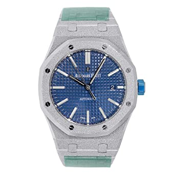 351800e5eb26 Amazon.com  Audemars Piguet Royal Oak 41mm Frosted White Gold  15410BC.GG.1224BC.01  Watches