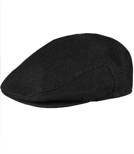 Caripe Stroh Flatcap Schiebermutze Hut Kappe Jut2 Amazon De