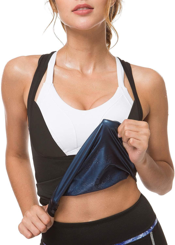 IFLOVE Women's Body Shaper Sweat Vest Sauna Suit Slimming Polymer Weight Loss Workout Shapewear