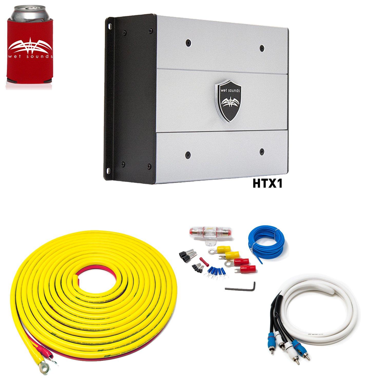 濡れSounds htx1パッケージ: 650 Watt Subwoofer Amplifier & Stinger 7-meter 4-gaugeアンプ配線キットW/RCAs B07CNNJ91B