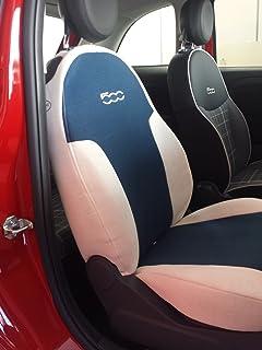 a medida con reverso dividido Quadratino nero//bianco Fundas de tela para asientos unito nero