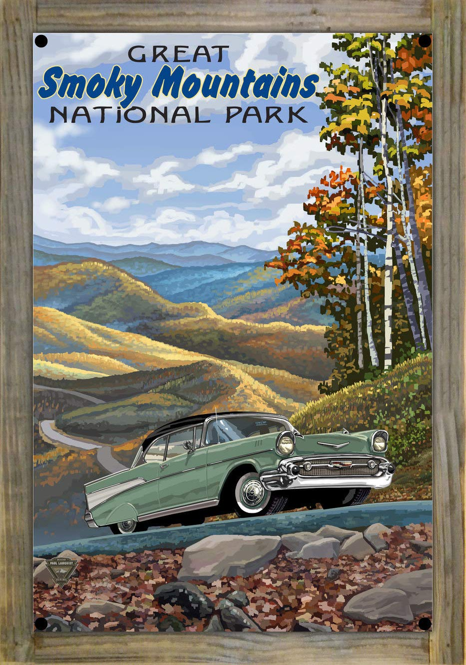 Smoky Mountain Chevrolet >> Amazon Com Great Smoky Mountains National Park Chevy Metal