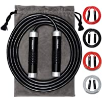 Weighted Jump Rope - Premium Heavy Jump Ropes with Adjustable Extra Thick Cable, Aluminum Silicone Grips Handles, High…