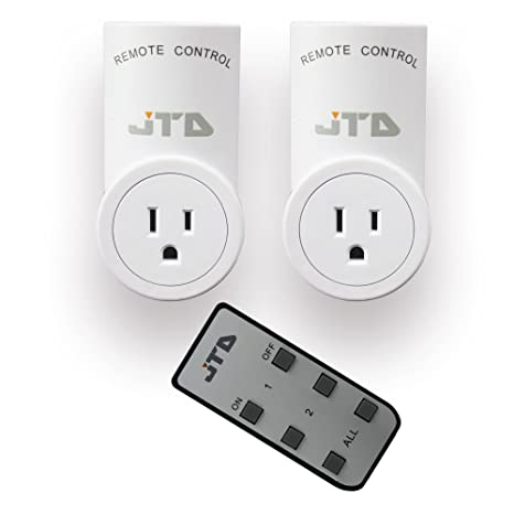 JTD 1 Pack Remote Control Outlet Switch 3rd Generation Energy Saving Auto-programmable Wireless Electrical Plug Switch for Household Appliances Lighting /& Electrical Equipment