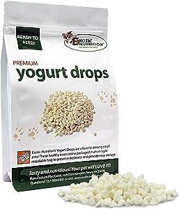 Exotic Nutrition Yogu Drops - All Natural Healthy Yogurt Treat - for Sugar Gliders, Prairie Dogs, Monkeys, Squirrels, Guinea Pigs, Rabbits, Chinchillas, Rats, Marmosets, Degus & Other Small Pets