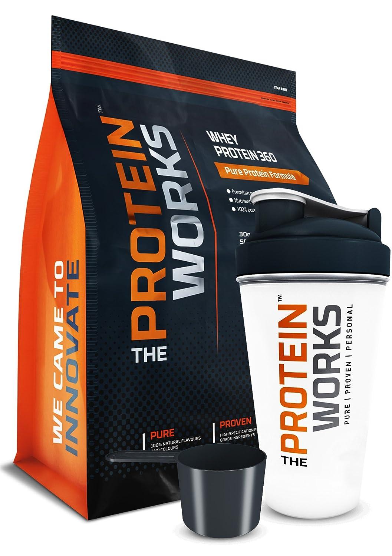 The Protein Works Whey Protein 360 (Incluye Shaker y cacito GRATIS) - Plátano - 2,4kg: Amazon.es: Salud y cuidado personal