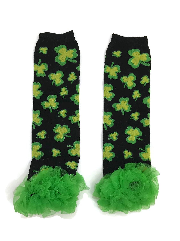Rush Dance Black Yellow Shamrock St Patricks Day Baby//Toddler Chiffon Leg Warmer