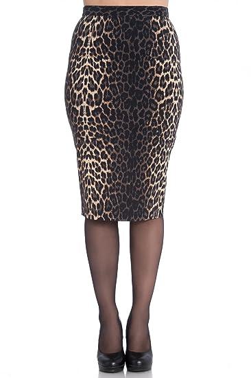 Falda Tipo Tubo de Hell Bunny Panthera Leopardo en estilo 50s ...