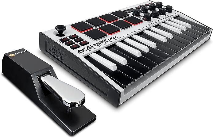 AKAI Professional MPK Mini MK3 White + M-Audio SP-2 - Teclado ...