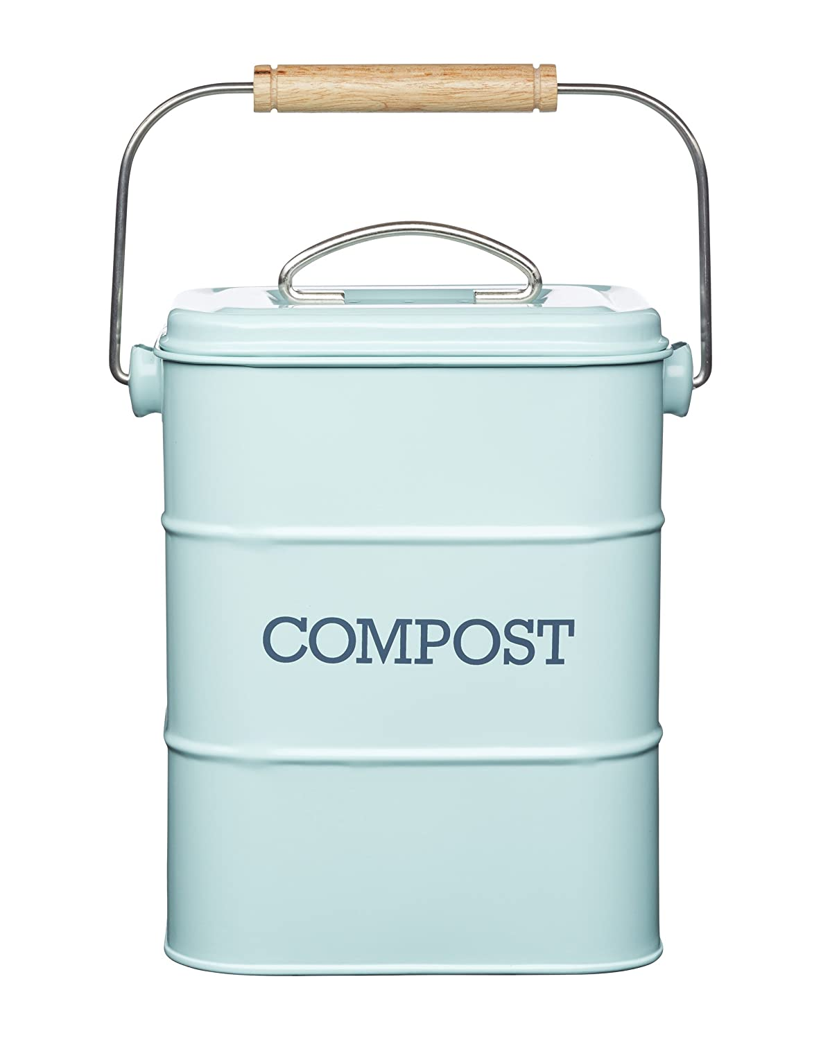 Kitchen Craft Living Nostalgia Vintage Blue Compost Bin