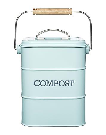 Kitchen Craft LNCOMPBLU Living Nostalgia Komposteimer, 3 Liter ...