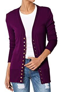 TheMogan S~XL Classic Snap Button Front V-Neck Long Sleeve Knit Cardigan 068264ea4