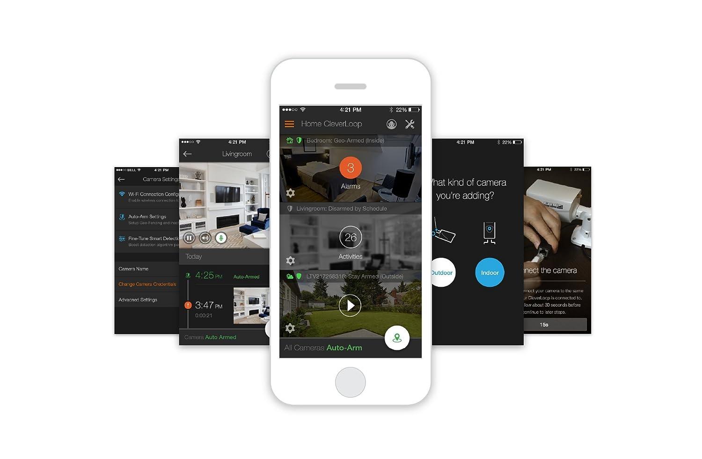 Kit VideoVigilancia CleverLoop con 3 cámaras IP WIFI, Respaldo en la Nube, Detección de Movimiento y Alertas Móviles: Amazon.es: Bricolaje y herramientas