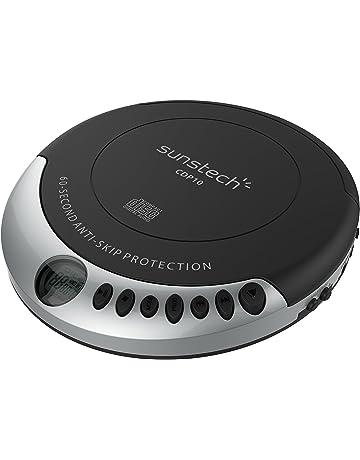 Sunstech CDP10BK - Reproductor CD portátil con Bass Boost y protección Anti Vibraciones, Color Negro