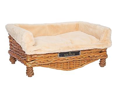 MICHUR LINDA COGNAC, Cama del perro, cama del gato, cesta del gato,
