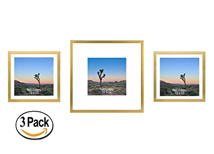 Amazon.com - RAD GALLERY 3 Large Picture Frames, Gallery Wall Layout ...