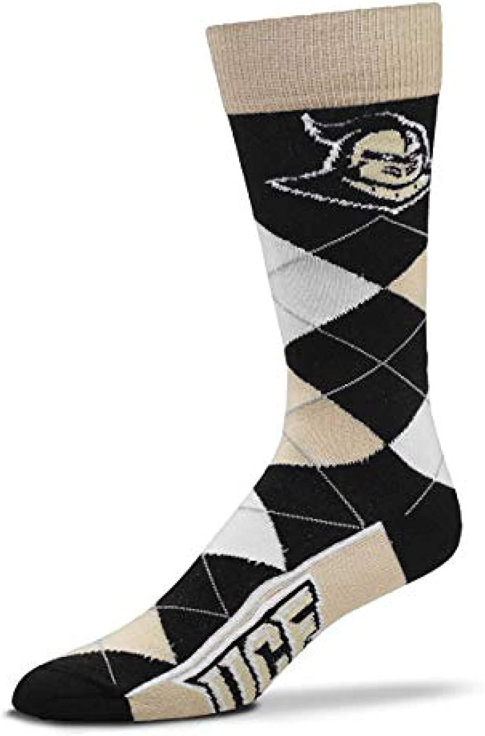 For Bare Feet Mens NCAA Argyle Lineup Crew Dress Socks-One Size Fits Most