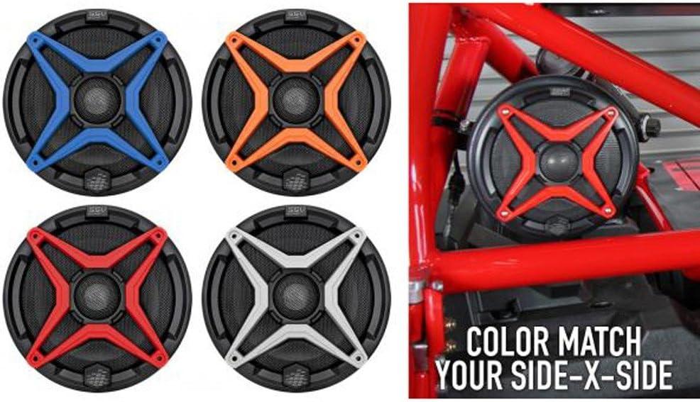 SSV WP-A6 6.5 Waterproof Speakers+White Grilles for Polaris RZR//ATV//UTV//Jeep