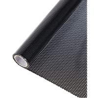 HOHOFILM Perforated Mesh Window Film Self Adhesive Black Dotted One Way Film Privacy Stickers for Home Office…