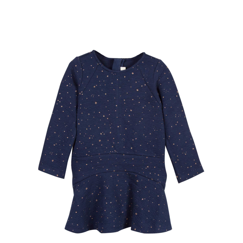 Bleu (bleu 44) 4 ans  Catimini Manches Longues en Maille pour, Robe Fille