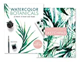 Watercolor Botanicals (2 Books in 1): 20 Prints