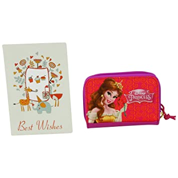 Disney Princesas Bella et Enredados Cartera para Chica Billetero Monedero Bolsillo: Amazon.es: Equipaje