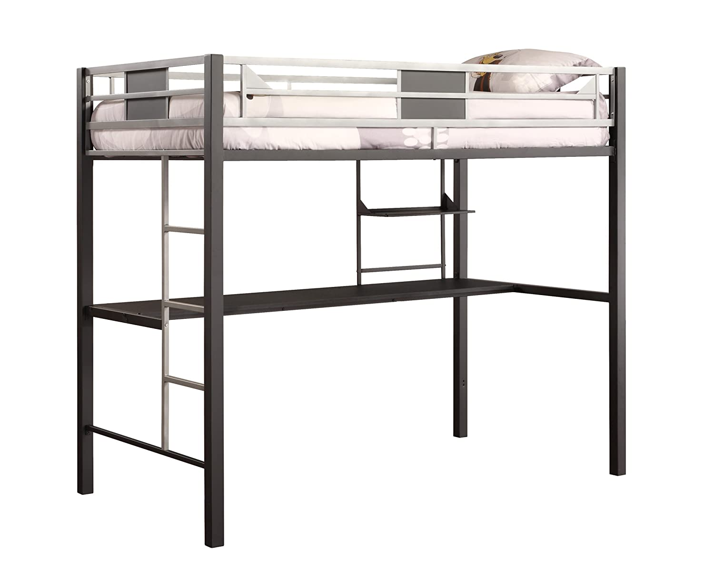 amazoncom dhp screen loft bunk silver kitchen  dining -