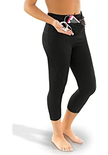 Amazon.com: Sport-it Yoga Capri Leggings Tights | Workout Pants ...