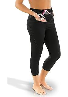 Amazon.com: Sport-it Yoga Capri Leggings Tights   Workout Pants ...