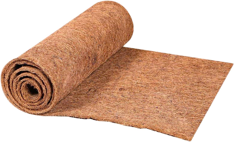 60*200cm Alfombra de reptiles, fibra coco sustrato fibra de coco natural alfombra fibra coco para mascotas Terrario Liner reptiles suministros para plantas flores colgante pared cesta reemplazo