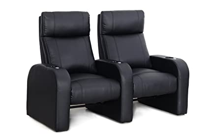 Charmant Octane Seating Pulse ZR450 Home Movie Chairs Accessory Dock   Black Bonded  Leather   Row Of