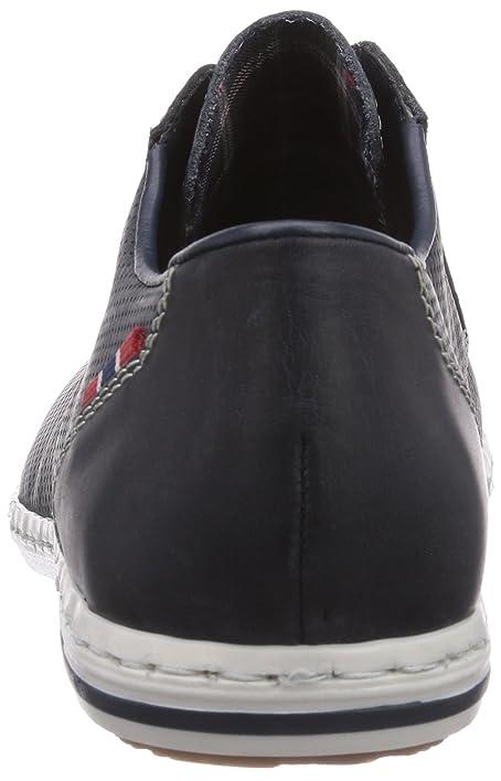 Rieker B9125 - zapatos con cordones de cuero hombre, color azul, talla 45