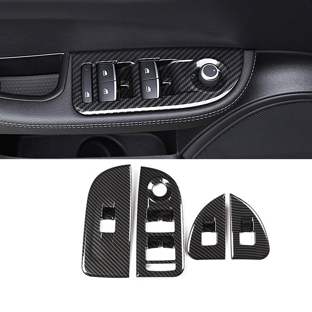 4/x in fibra di carbonio per Giulia 2016/2017/2018/ABS cromato alzacristallo interruttore pulsante Frame cover Trim adesivi accessori