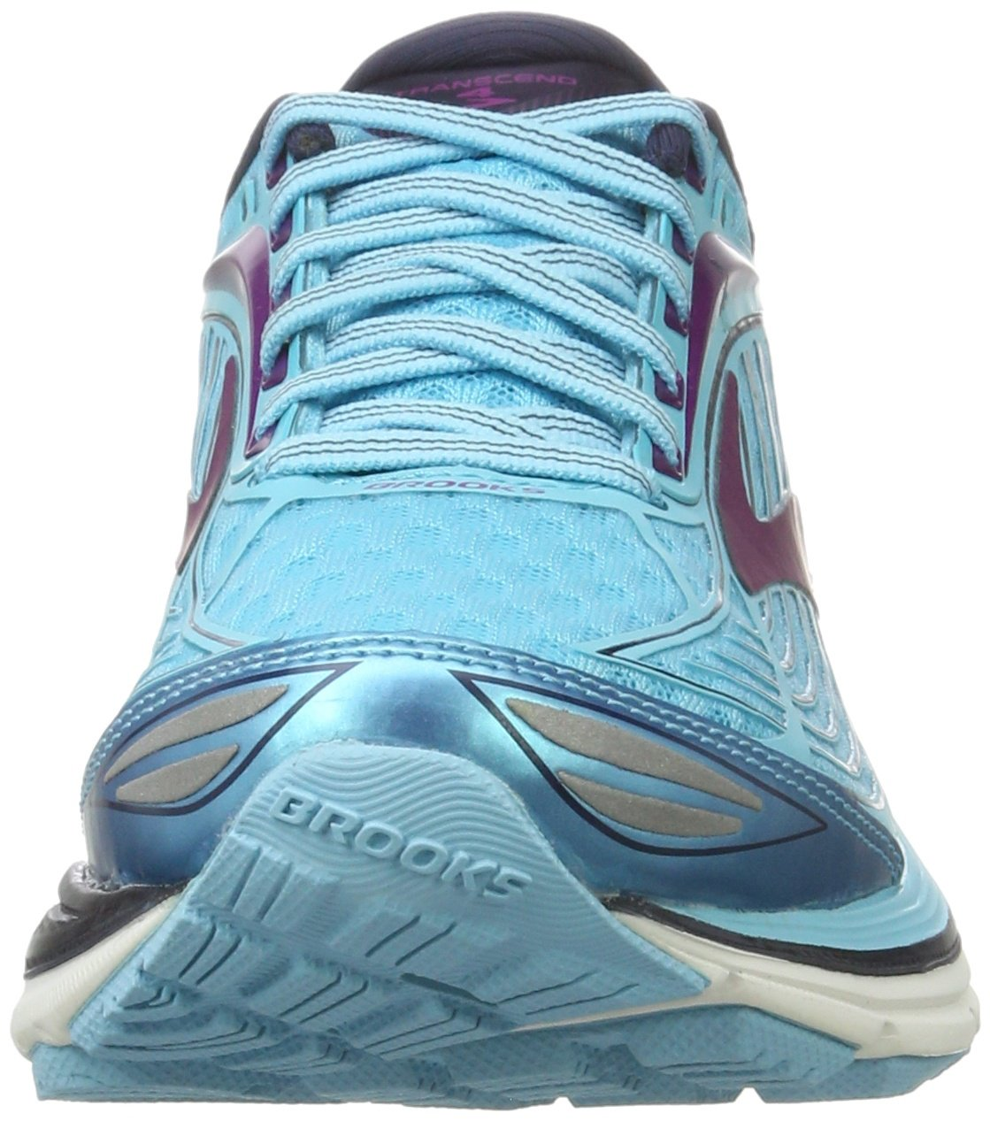 Brooks Women's Transcend 4 Bluefish/Peacoat/Purple Cactus Flower 6.5 B US by Brooks (Image #4)