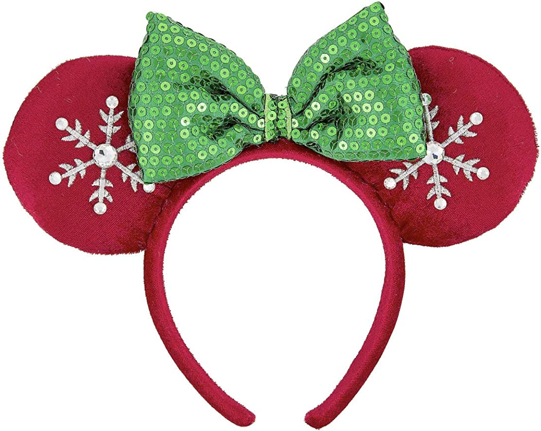 Light up ears minnie Christmas ears Custom ears Winter minnie ears mickey light up ears Mickey Snowflake Ears led ears Holiday Ears