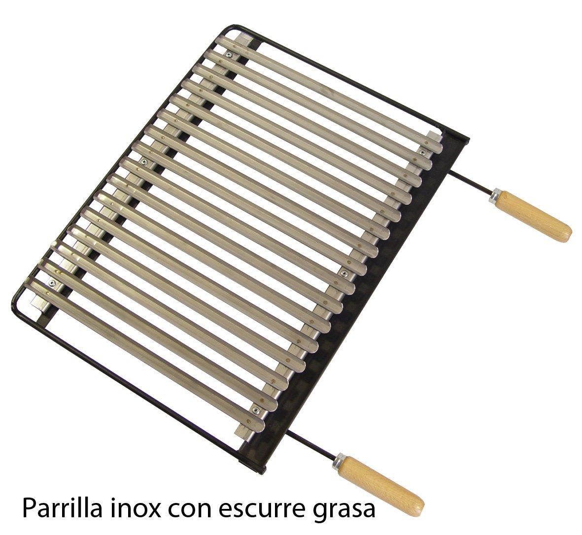 61 x 40 x 100 cm Imex El Zorro 71536 color negro Barbacoa con elevador y parrilla inox