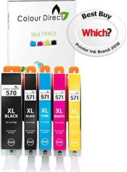 Colour Direct 1 Conjunto (5 Tinta Compatible Cartuchos PGI 570XL ...