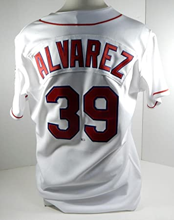 b571213aec3 2017 Texas Rangers Dario Alvarez Game Issued Poss Game Used Throwback Jersey  - Game Used MLB