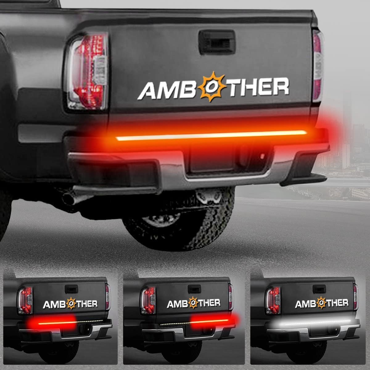 AMBOTHER Truck Tailgate Side Bed Light Strip Bar