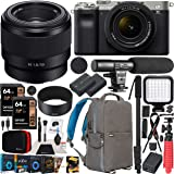 Sony a7C Mirrorless Full Frame Camera 2 Lens Kit Body with 28-60mm F4-5.6 + 50mm F1.8 SEL50F18 Silver ILCE7CL/S Bundle with D