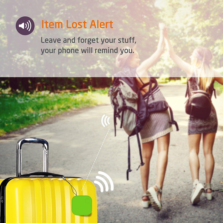 Rilevatore di chiavi Bluetooth con telecomando per iOS//Android GOMAN colore Verde