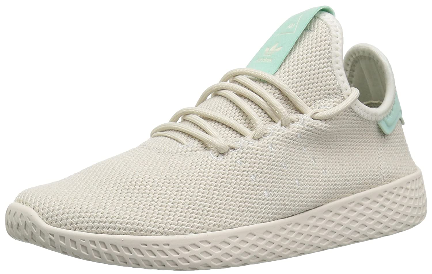 adidas Originals Women's Pw Hu Tennis Shoe B077XFKWF4 9 B(M) US|Talc/Talc/Chalk White
