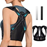 AVIDDA Posture Corrector for Men and Women, Upgraded Back Brace with Replaceable Support Plates, Adjustable and Breathable Ba