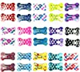 """30 Pcs Puppy Cat Dog Hair Clips 1"""" Min Bone Clips Multicolor Dog Topknot Bows Dog Grooming Bows Pet Supplies Dog Bows Dog Hair Accessories"""