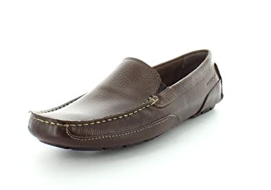 a7b86eee440 Rockport Mens Oaklawn Park Venetian Brown Slip-On - 8 M
